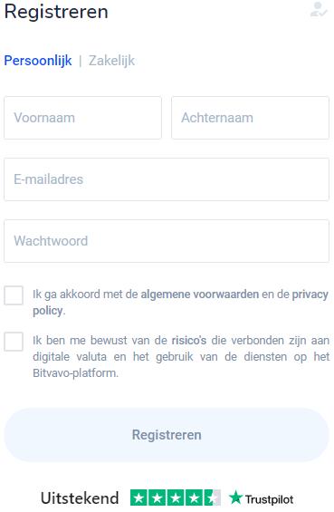 Bitvavo account aanmaken
