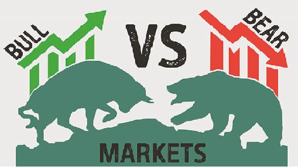 Bear market versus bull market