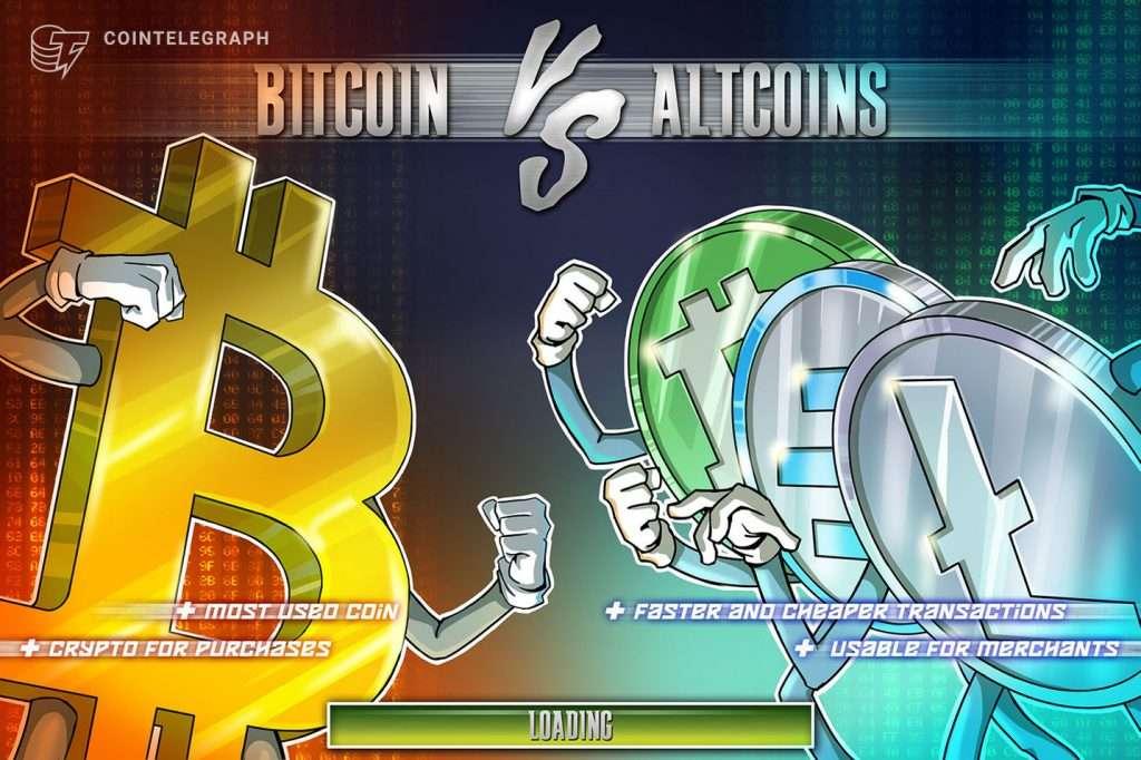 Altcoin versus bitcoin