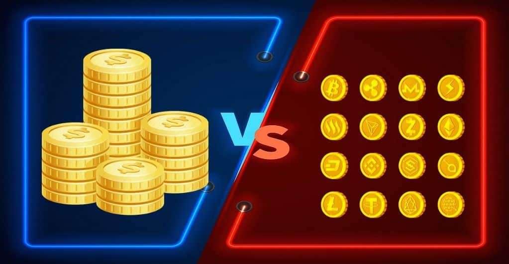 Bitcoin VS fiat normaal geld