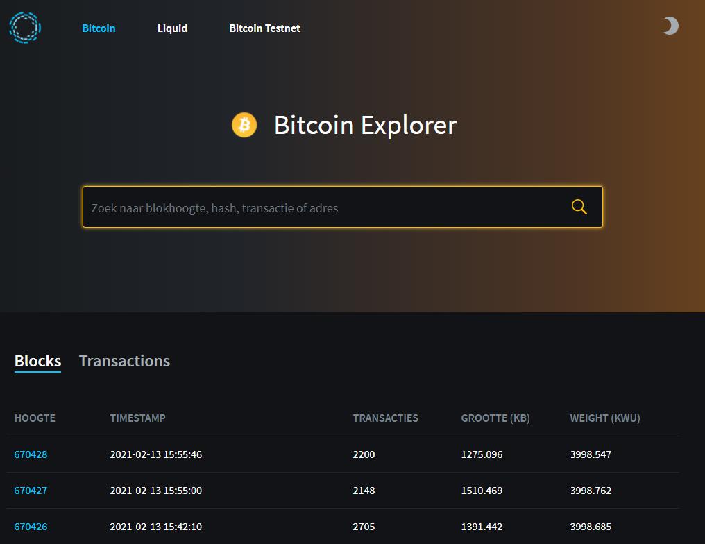 Blockstream block explorer bitcoin
