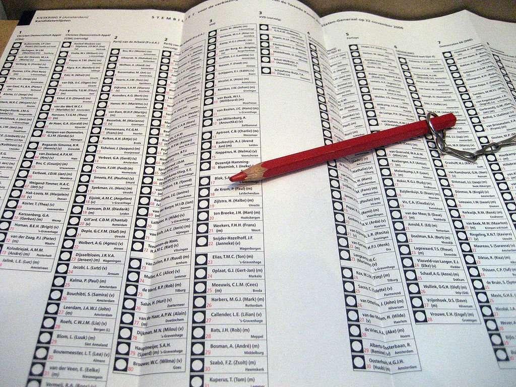 Pen en papier stemmen