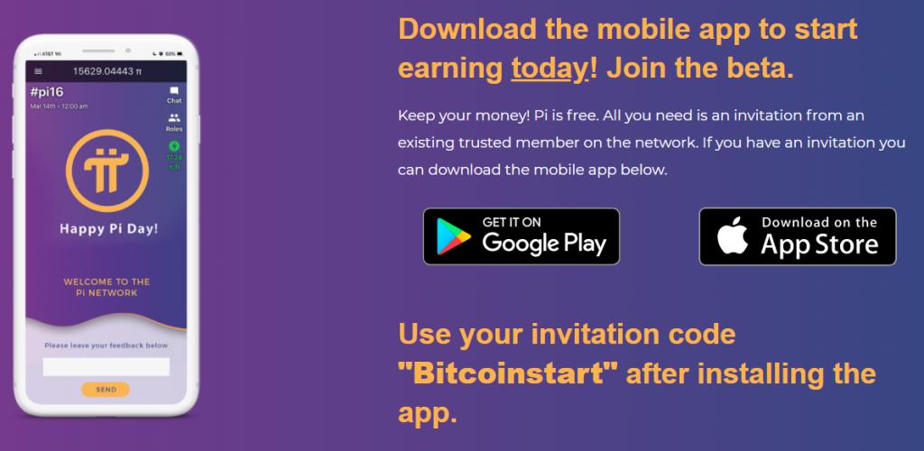 Aanmelden bij pi network om pi coin te minen