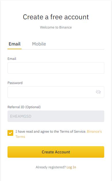 Uitleg binance account aanmaken