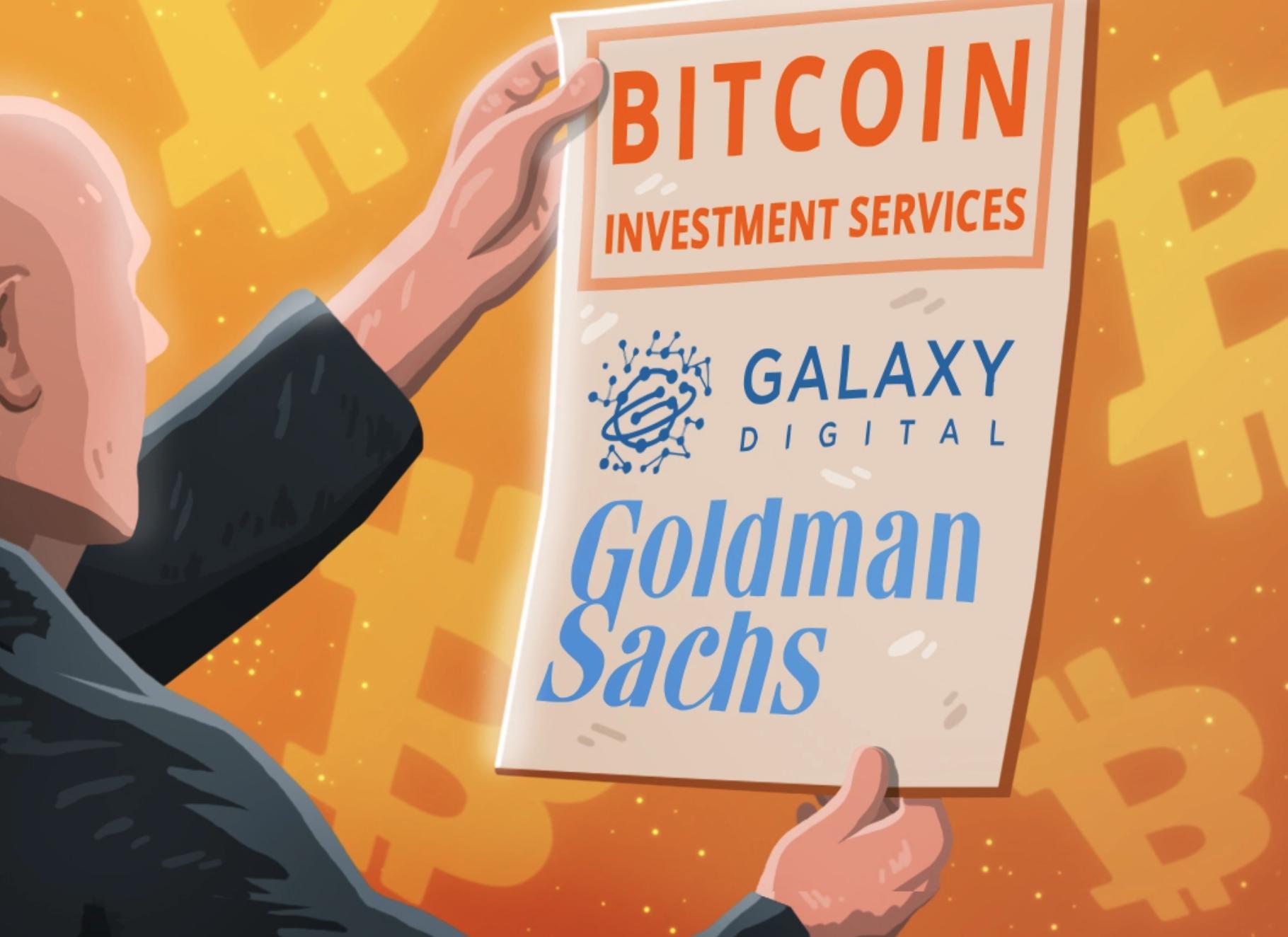Bitcoin futures Goldman