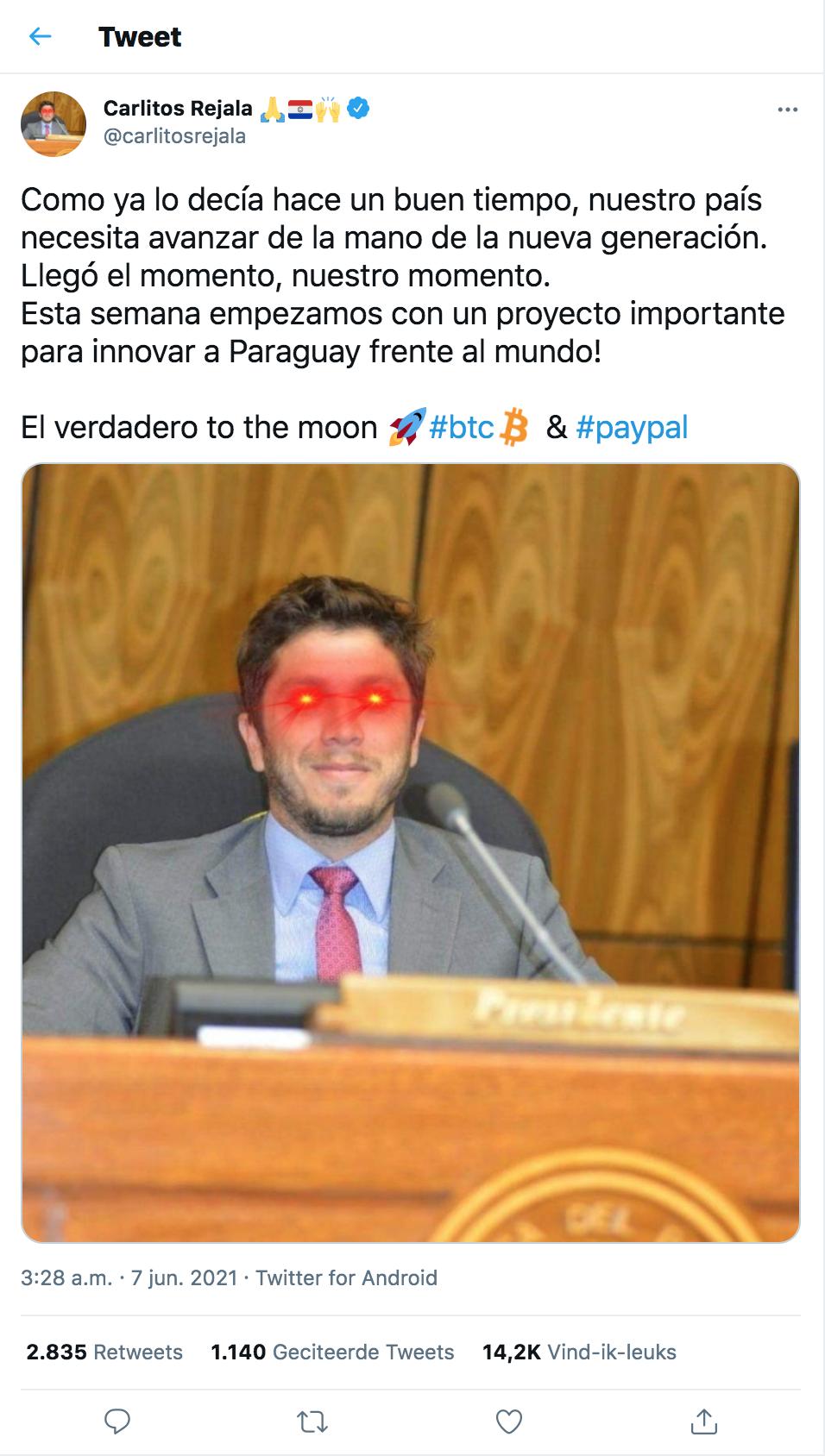 Bitcoin in Paraguay officieel betaalmiddel