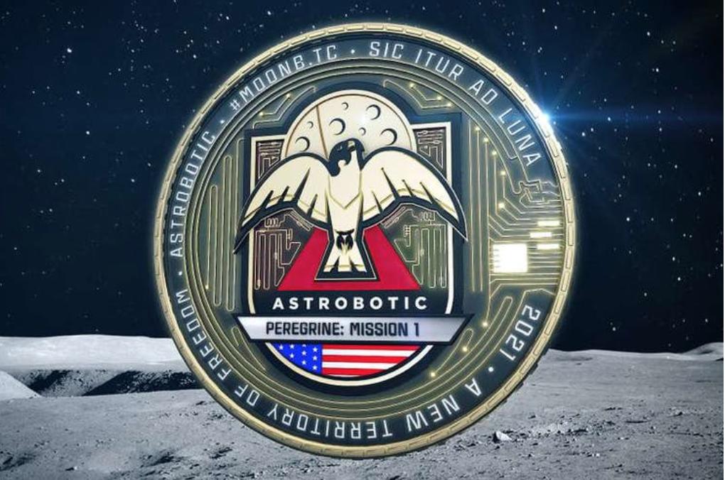 Fysieke Bitcoin naar maan