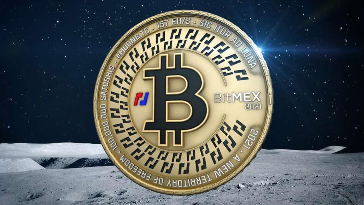 Fysieke Bitcoin od maan