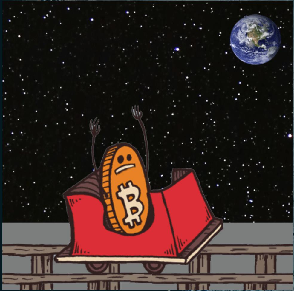 Fysieke Bitcoin opd maan