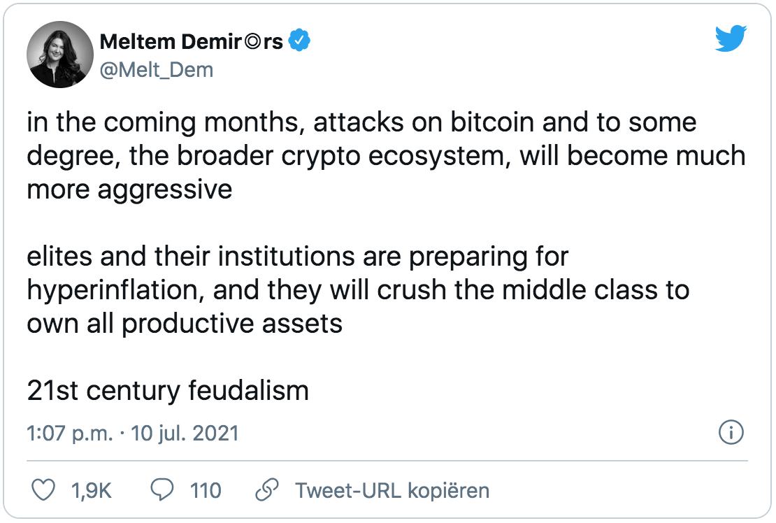Bitcoin aanval tweet
