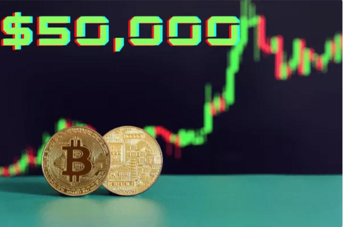 Bitcoin koers boven 50000