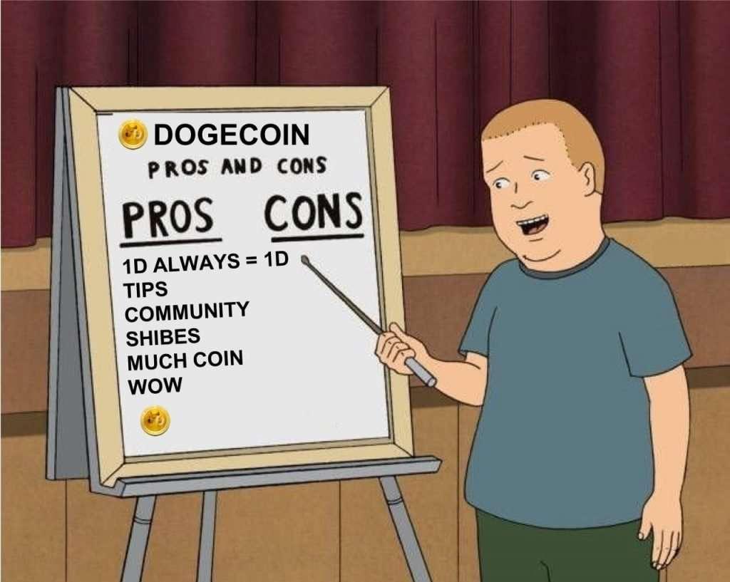 nadelen en voordelen van dogecoin