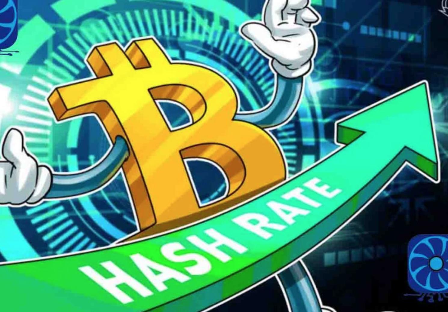 Flinke stijging bitcoin hashrate