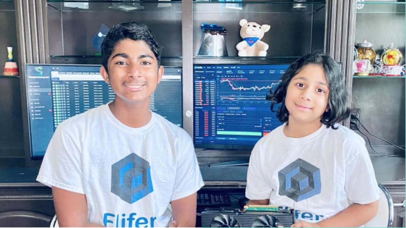 Jonge crypto investeerders.
