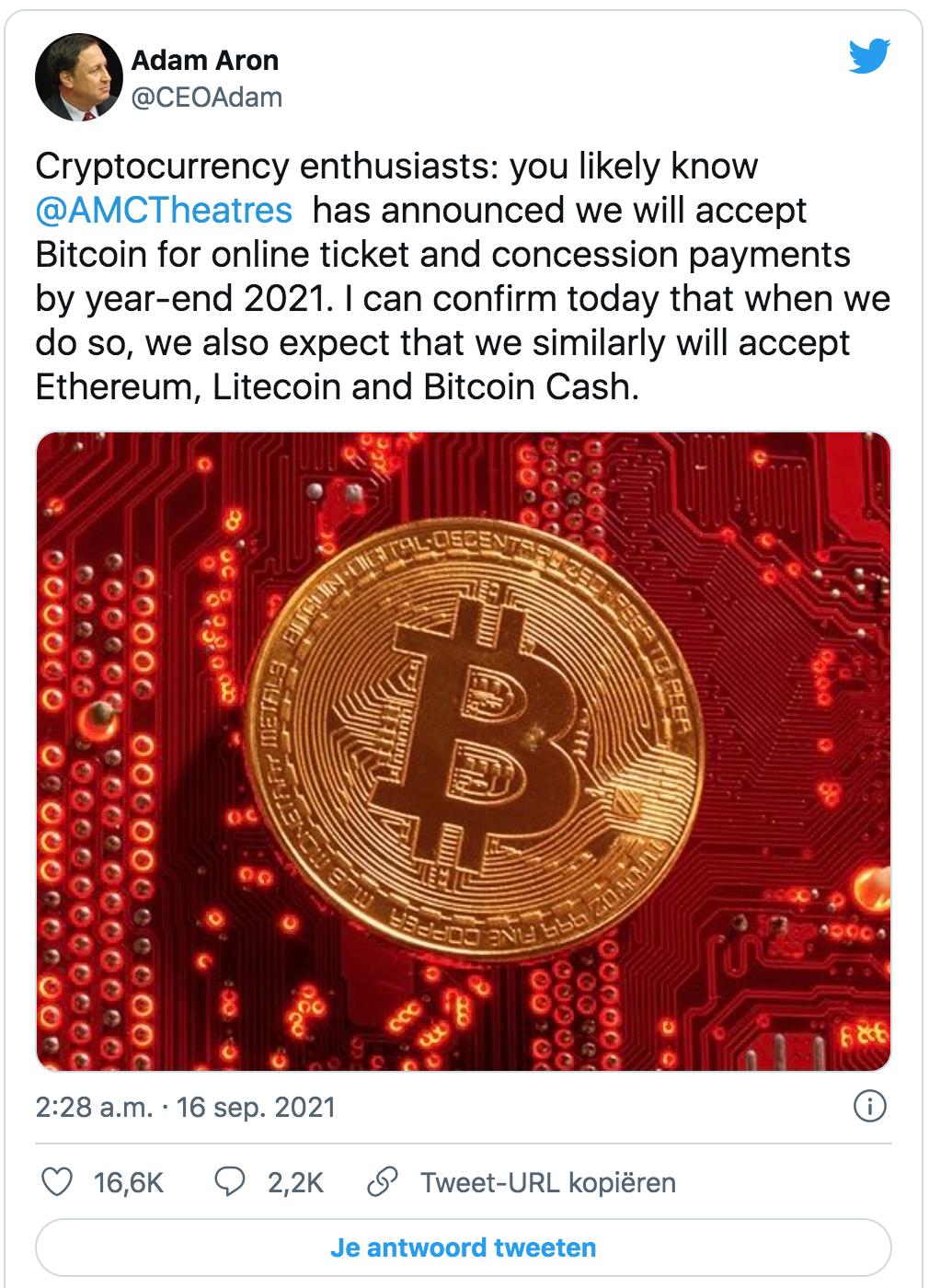 Amc theatres cryptobetalingen
